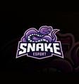 snake mascot sport logo design vector image vector image