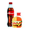 soda and burger vector image vector image