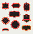 Stylized retro frames and labels vector image vector image