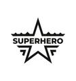superhero icon or symbol design vector image