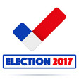 symbol of election 2017 in france vector image vector image