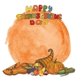 thanksgiving daydoodle harvestwatercolor splash vector image