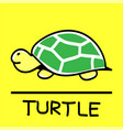 turtle hand-drawn style vector image