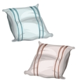 two simple pillows for bed and sleeping vector image vector image