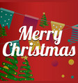 typographical background with christmas elements vector image