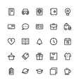 User Interface Colored Line Icons 17 vector image vector image