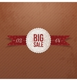 Valentines Day Big Sale realistic paper Emblem vector image