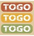 Vintage Togo stamp set vector image vector image