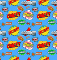 Wow seamless pattern Seamless pattern with comic vector image vector image