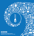 Zipper Icon sign Nice set of beautiful icons vector image vector image