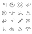Womans health line icons set vector image