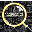 AGGRESSION vector image vector image