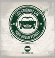 alternative eco friendly car stamp vector image vector image