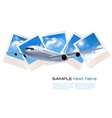 Background with airline and photos with sky vector image vector image