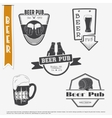 Beer pub set Brewing typographic labels logos vector image vector image