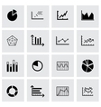 black diagrams icons set vector image vector image