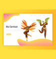 brazil carnival bikini woman landing page vector image vector image