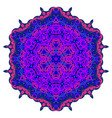 bright circular ornament purple flower mandala vector image vector image
