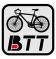 btt sport emblem vector image vector image