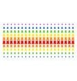 bulwark tower shape halftone spectrum effect vector image vector image