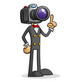 camera head paparazzi cartoon character vector image