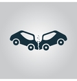 car crash and accidents icon vector image