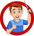cartoon male workers holding a screwdriver vector image