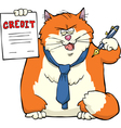 cat offers credit vector image vector image