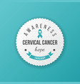 cervical cancer awareness emblem vector image vector image