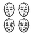 classic vintage hockey goalkeeper mask from 60 vector image vector image