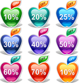 Colorful discount labels vector image vector image