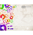 Colorful handprint design vector | Price: 1 Credit (USD $1)