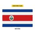 Costa Rican grunge flag vector image vector image