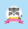 cute animal cartoon vector image