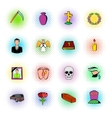 Death icon set vector image vector image