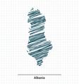 Doodle sketch of Albania map vector image vector image