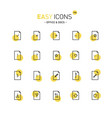easy icons 19d docs vector image vector image