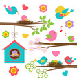 family birds vector image vector image