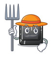 farmer button f12 on a keyboard mascot vector image vector image