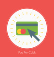 Flat design concept for Pay Per Click for w vector image