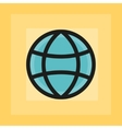 flat earth sphere icon vector image vector image