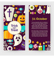Flyer Template of Flat Design Halloween Trick or vector image vector image