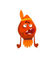 funny monster indian colorful fabulous creature vector image vector image