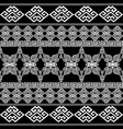 greek seamless borders pattern vector image