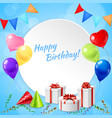 happy birthday frame realistic vector image vector image