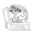 isolated unicorn cartoon design vector image