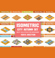 isometric set blocks module areas the vector image vector image