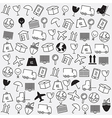 Line icons Logistics icons Logistics background vector image
