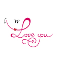 Love you Valentines Day vector image vector image