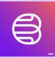 modern professional logo monograma b in purple vector image vector image